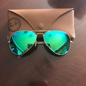 Ray Ban Aviator Flash Sunglasses